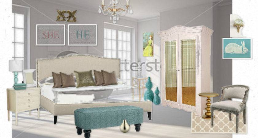 Romantic Teal White Gold Bedroom Colettefb Olioboard