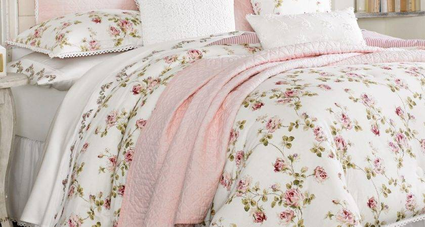 Rosalie Pink Floral Comforter Bedding Piper Wright