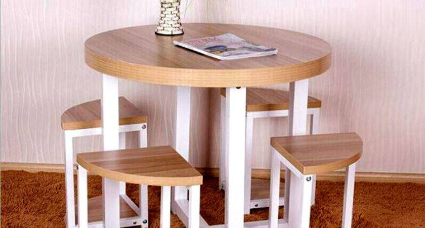 Round Dining Table Chairs Combination Small Apartment