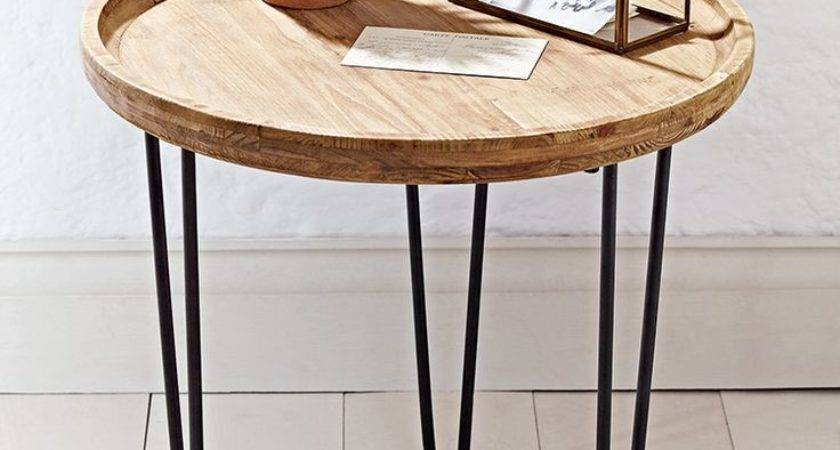 Round Wooden Bedside Tables Small Side Table Elegant