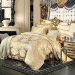 Royal Retro Style Camel Jacquard Bedding Set Piece