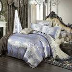 Royal Retro Style Lilac Jacquard Bedding Set Piece