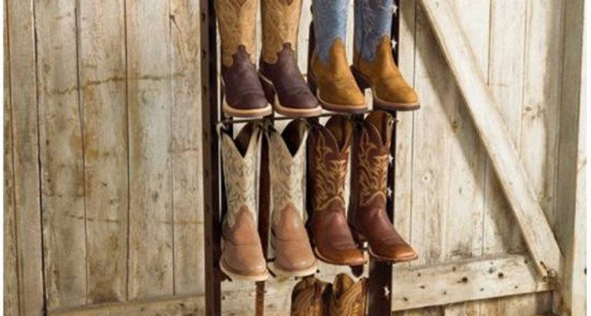 Rustic Boot Rack