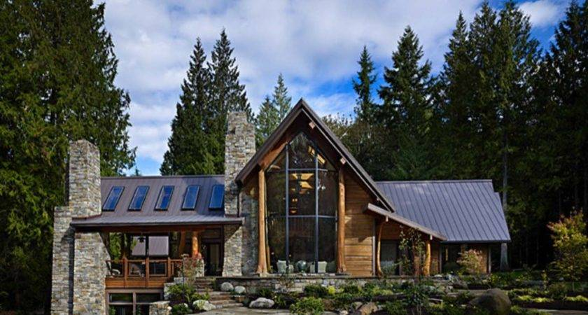 Rustic Contemporary Home Nestled Secluded Forests