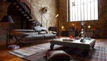 Rustic Living Room Design Exposed Brick Wall Olpos