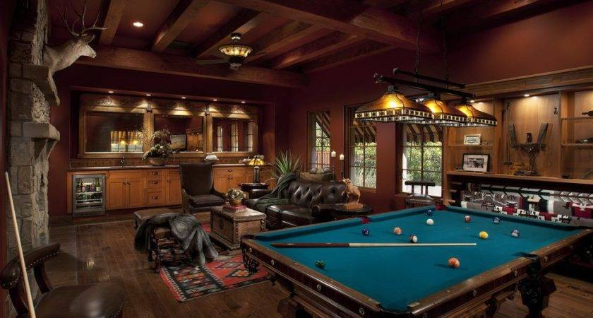 Rustic Man Cave Ideas Room Farmhouse Barn