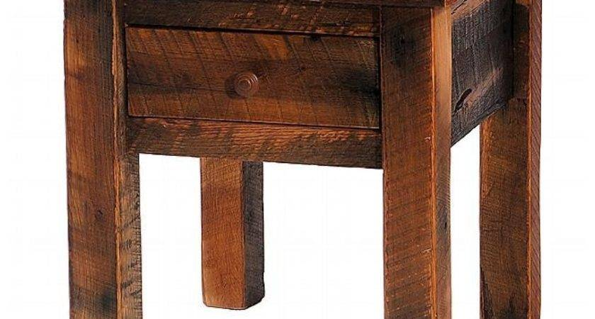 Rustic Side End Tables Reclaimed Furniture Design Ideas