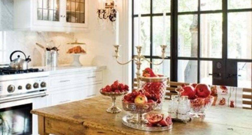 Rustic Wooden Dining Table Red Fruit