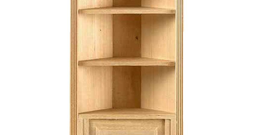 Scale Houseworks Shelf Corner Bookcase Availabl