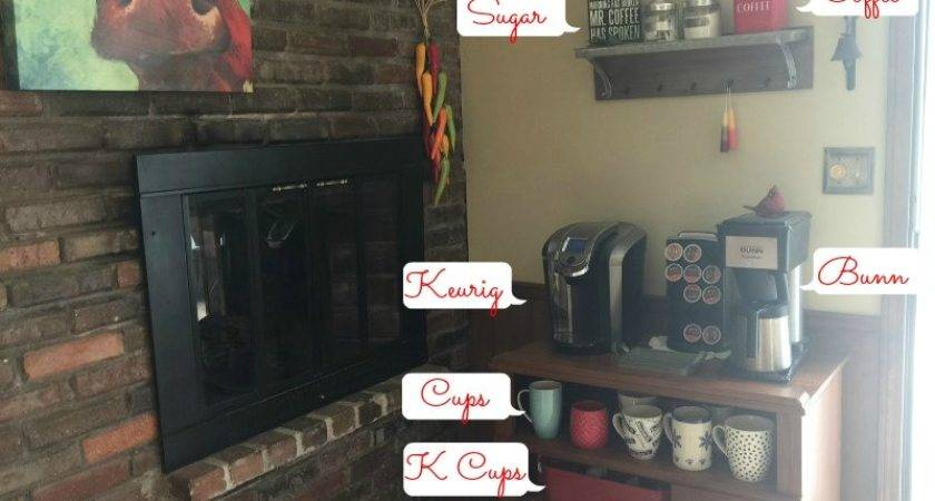 Set Coffee Bar Home Kitchen Counter Space Savers