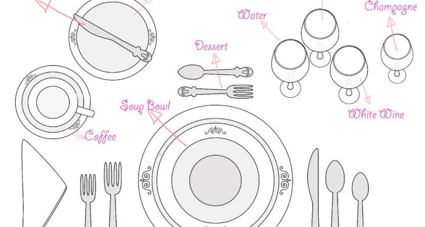 Set Dining Table Cutlery Roselawnlutheran