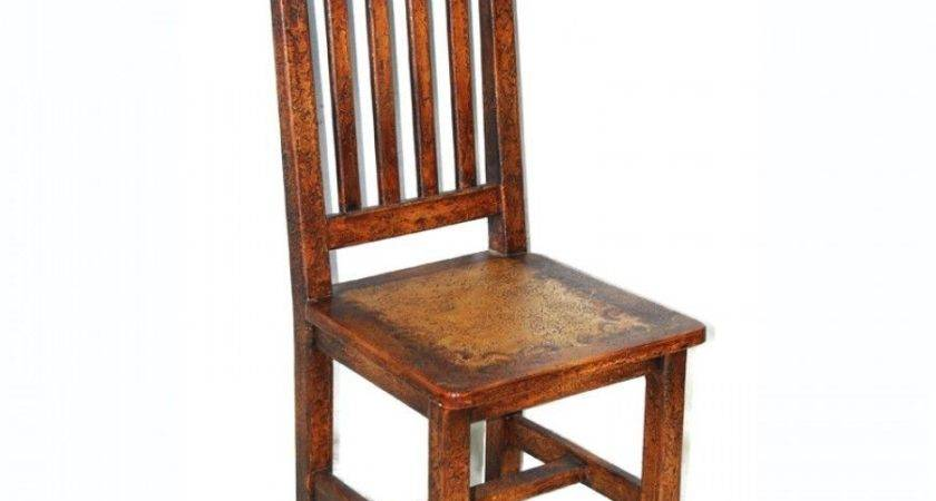 Set Two Dining Chair Reclaimed Wood Distressed