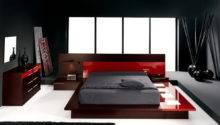 Sexy Red Big Bed Idea Modern Lighting Decor