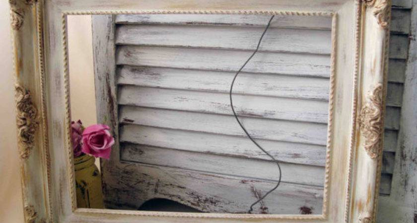 Shabby Chic Cream Painted Vintage Ornate Willowsendcottage