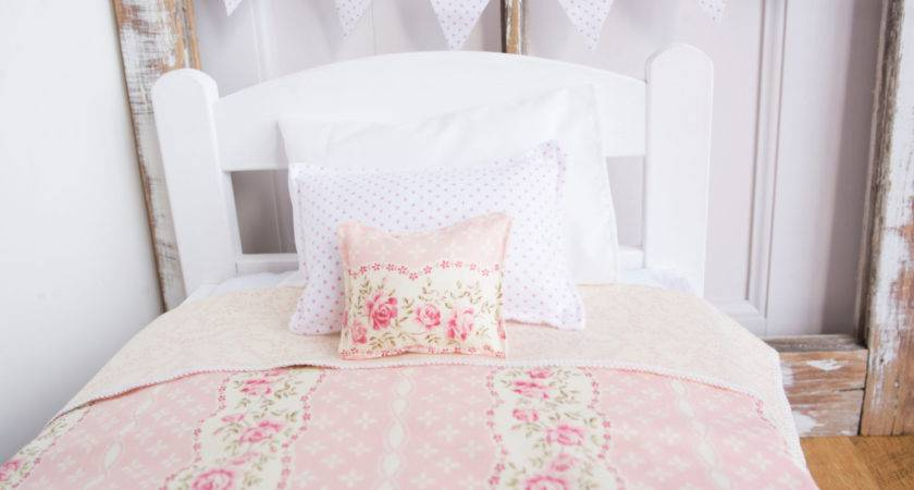Shabby Chic Doll Bedding Bed Light
