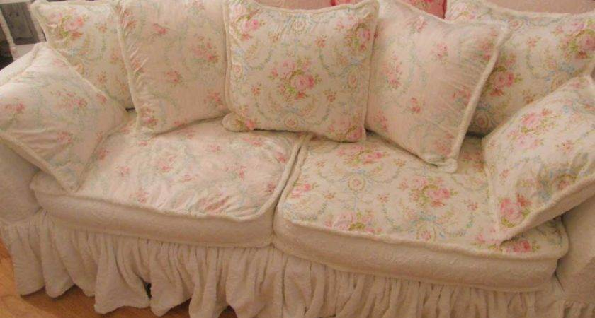 Shabby Chic Sofa Slipcover Home Design Attractive