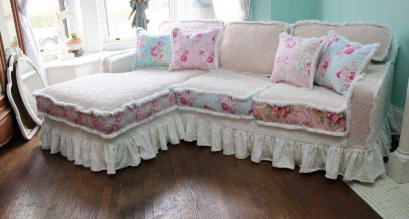 Shabby Chic Sofa Slipcover Top