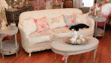 Shabby Chic Sofa Slipcovered Vintage Chenille