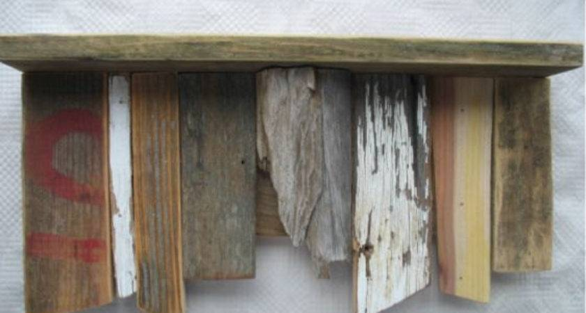 Shelf Recycled Wood Chippy Paint Rustic Primitive Furniture