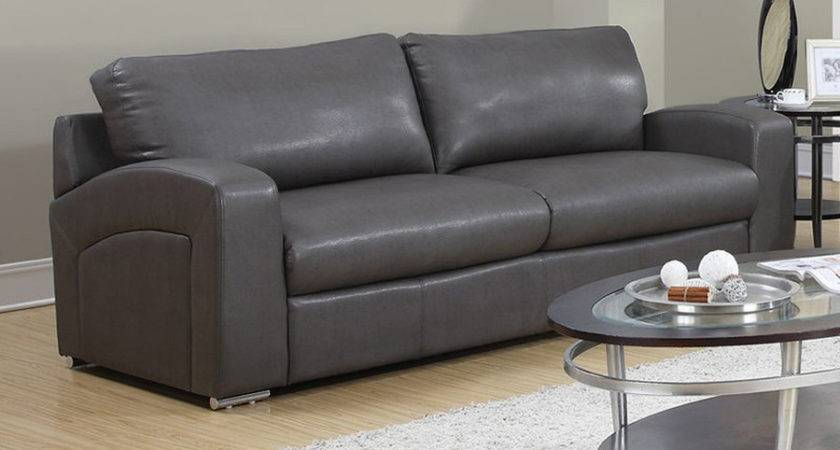 Shop Monarch Specialties Casual Charcoal Grey Faux Leather