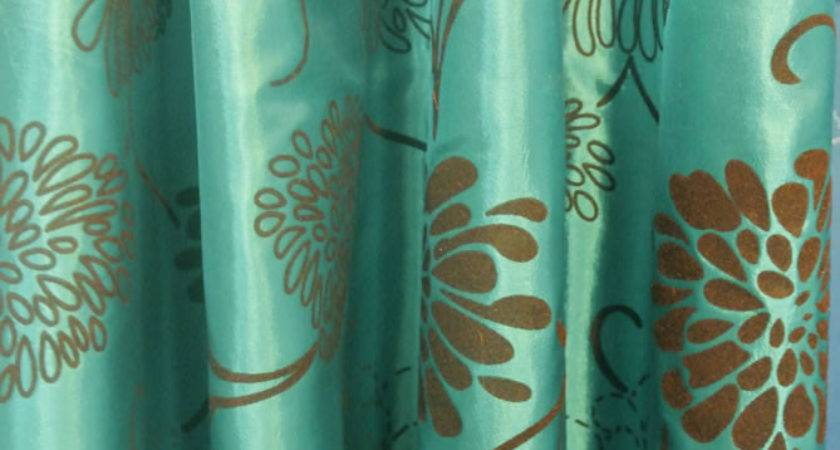 Shower Curtains Brown Turquoise