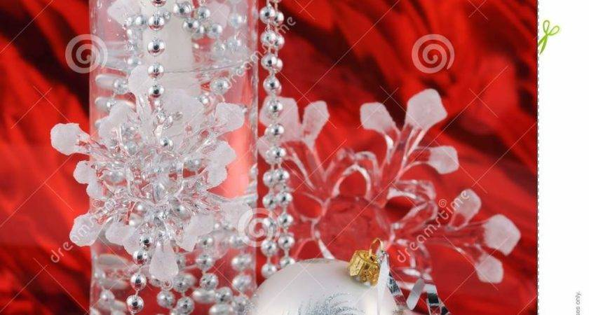 Silver Christmas Decoration Red