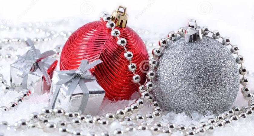 Silver Red Christmas Decorations