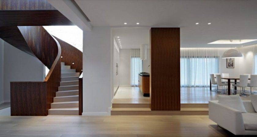 Simple House Interior Design Modern Wooden Staircase