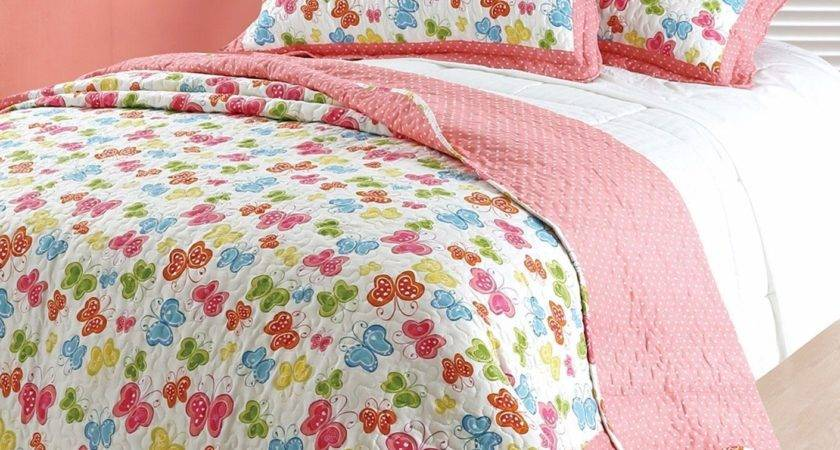 Single Bed Girls Kids Childrens Pretty Butterfly Themed