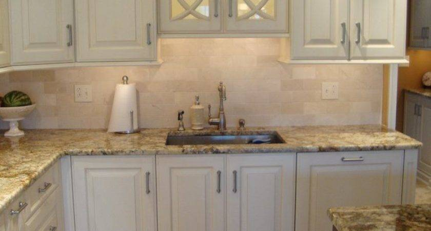 Sink Without Window Kitchen Traditional Tile