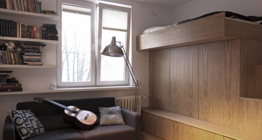 Small Bachelor Apartment Very Practical Design