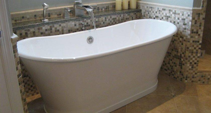 Small Freestanding Tub Bathroom Traditional Faucet