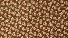 Small Pattern Floral Brown
