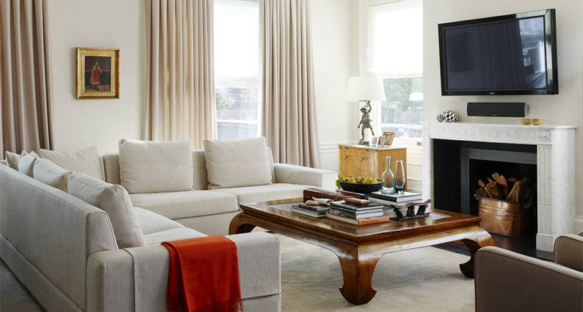 Small Sectional Sofa Living Room Traditional Beige