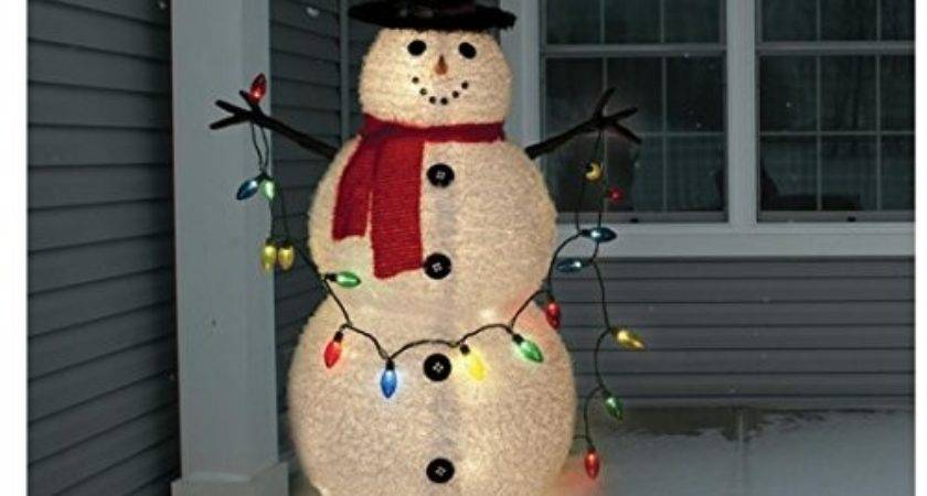 Snowman Lighted Yard Displays Christmas Wikii