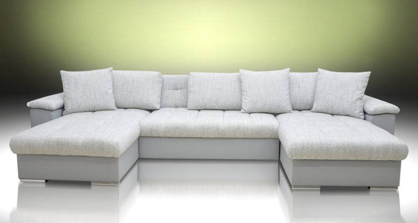 Sofa Bed Group Ocean Silver Grey Eco Leather Magma