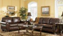 Sofas Brown All Leather Sofa Living Room