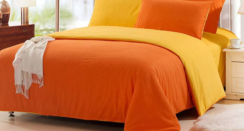 Solid Orange Comforter Promotion Shop Promotional