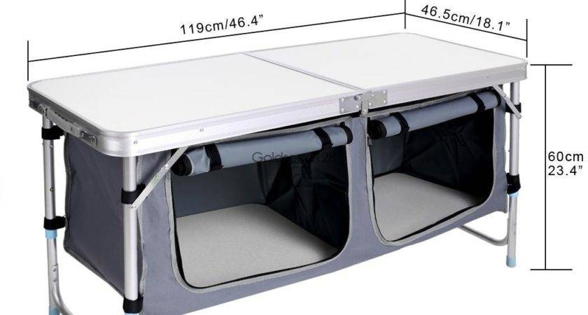 Solid Portable Aluminum Camping Picnic Folding Dining