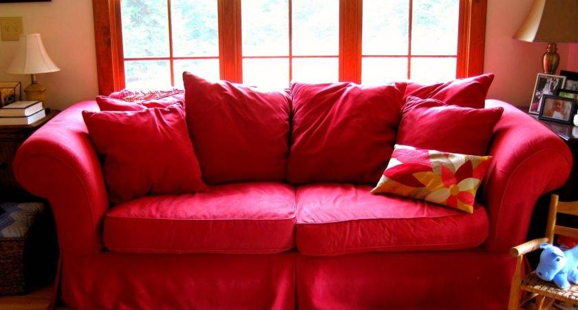 Space Between Ode Red Couch