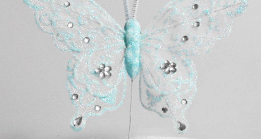 Spring Sparkle Blue Butterfly Decoration