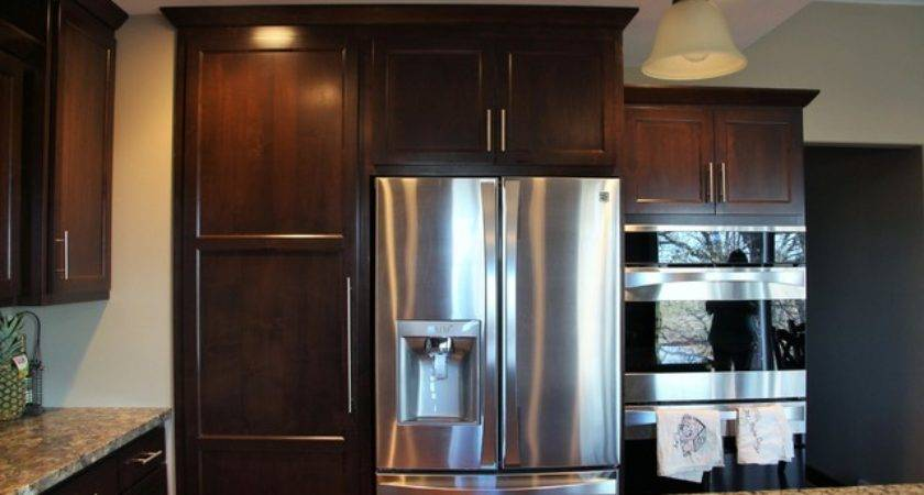 Staggered Kitchen Cabinets Hidden Pantry