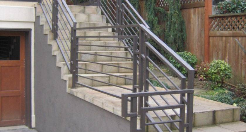 Stairs Amazing Exterior Stair Handrail Fascinating