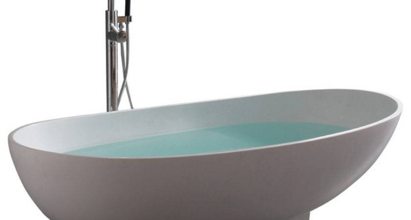 Stand Alone Resin Bathtub Modern Bathtubs Adm