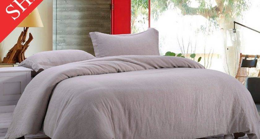 Stone Washed Linen Bedding Set Incluidng Duvet