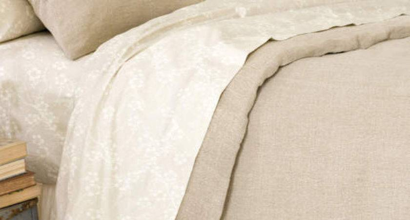 Stone Washed Linen Duvet Cover Pine Cone Hill