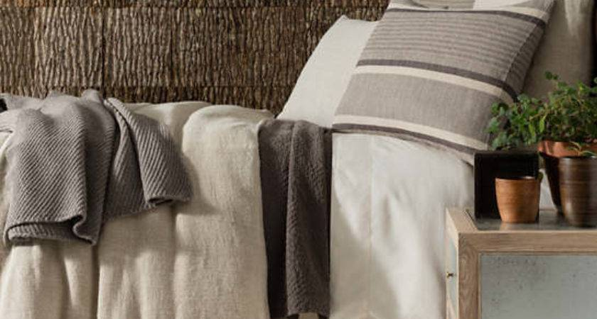 Stone Washed Linen Natural Duvet Cover Pine Cone Hill