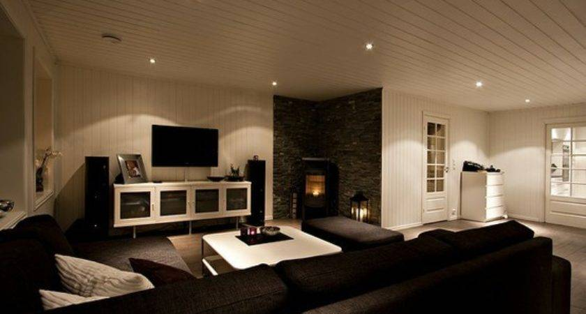Stones Fireplaces White Living Open Spaces Interiors