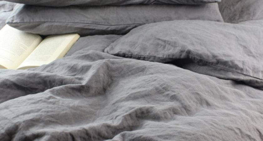 Stonewashed French Flax Linen Duvet Cover Queen Shed