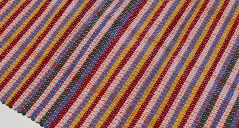Striped Primary Colors Fair Trade Rug Elocotalweavers